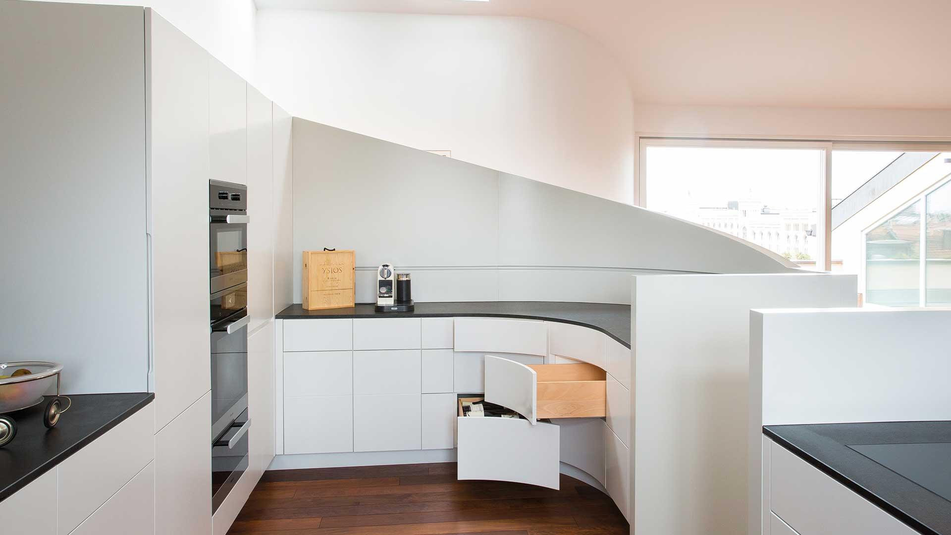 schreinerk che individuelle k chen vom schreiner opperer nach ma. Black Bedroom Furniture Sets. Home Design Ideas